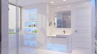 gambar kamar mandi minimalis modern batu alam ukuran kecil Contoh Kamar Mandi Minimalis Sederhana