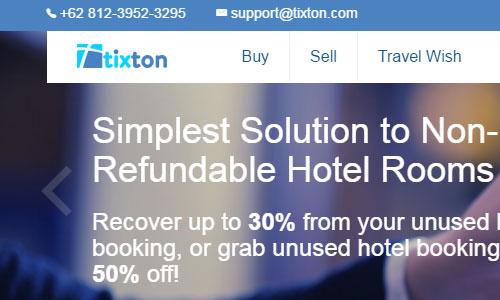 tixton website screenshot Situs Pesan Hotel Paling Murah Terpercaya di Indonesia