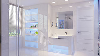 gambar kamar mandi minimalis modern batu alam ukuran kecil