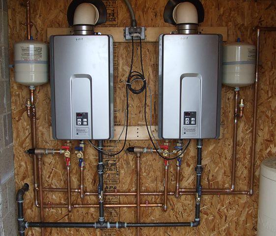 diagram pemanas air rinnai instalasi pemasangan panduan